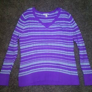 Soft Purple and White Soft Sweater 2X